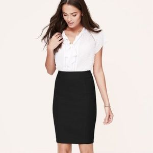 Ann Taylor LOFT Black Scuba Pencil Skirt